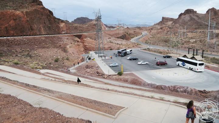 Hoover Dam Parking ที่จอดรถ