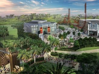 ภาพกราฟิกแสดงตัวอย่างสวนสนุก Hunger Games