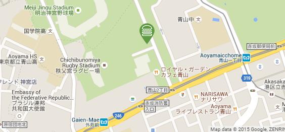 แผนที่ Shake Shack สาขาโตเกียว