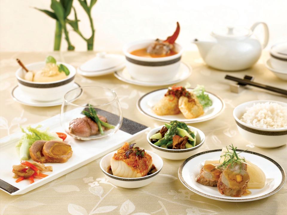ชุดอาหารจีนของ Singapore Airlines