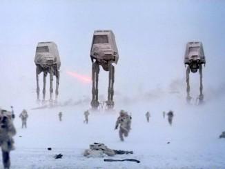 ฉากสงคราม Battle of Hoth (ภาพจาก Star Wars Wikia)