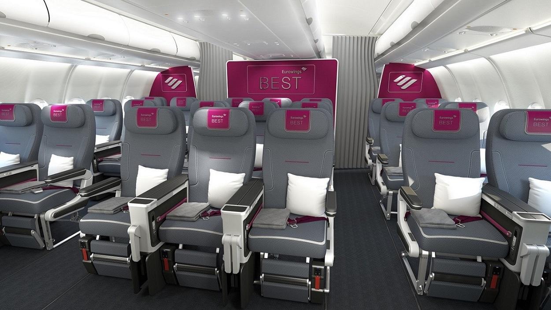 ภาพที่นั่งผู้โดยสารแบบ Best ของ Eurowings
