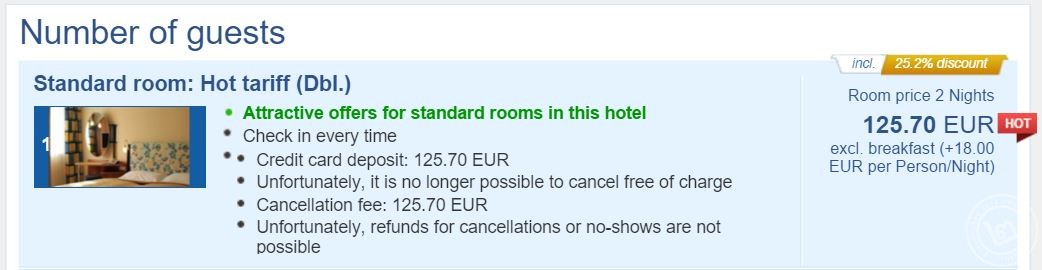 ตัวอย่างโรงแรมกลางกรุงเวียนนา กับส่วนลดมากถึง 25.2%