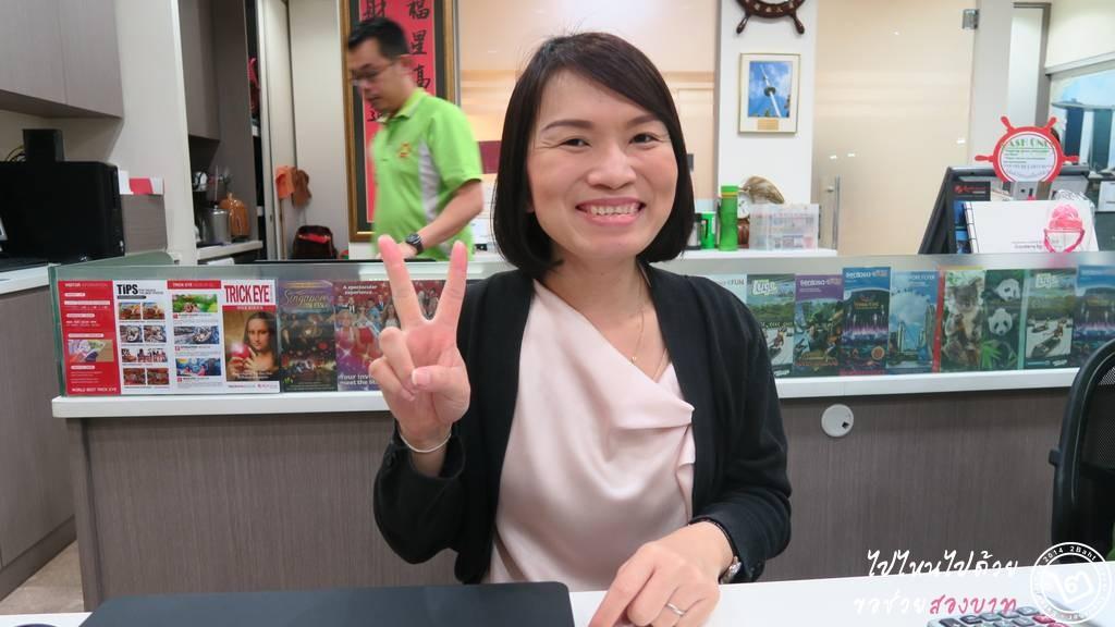 พี่มัส เจ้าหน้าที่คนไทยคนแรกของร้าน Sea Wheel Travel