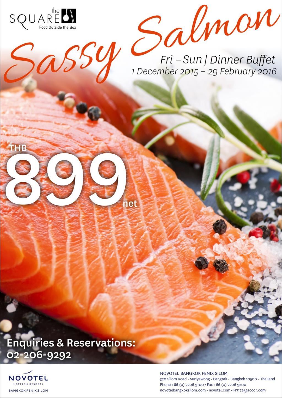 Sassy Salmon ห้องอาหารเดอะสแควร์ โรงแรมโนโวเทลสีลม