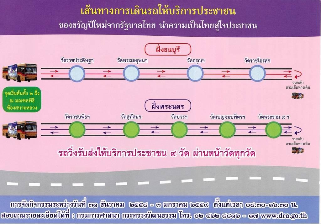 เส้นทางไหว้พระ 9 วัด สืบสิริสวัสดิ์ 9 รัชกาล (31 ธ.ค. 58 - 3 ม.ค. 59)
