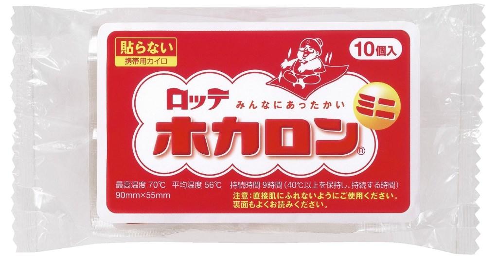 แผ่นความร้อนไคโระยี่ห้อ Lotte แบบธรรมดา - ภาพจาก amazon.co.jp