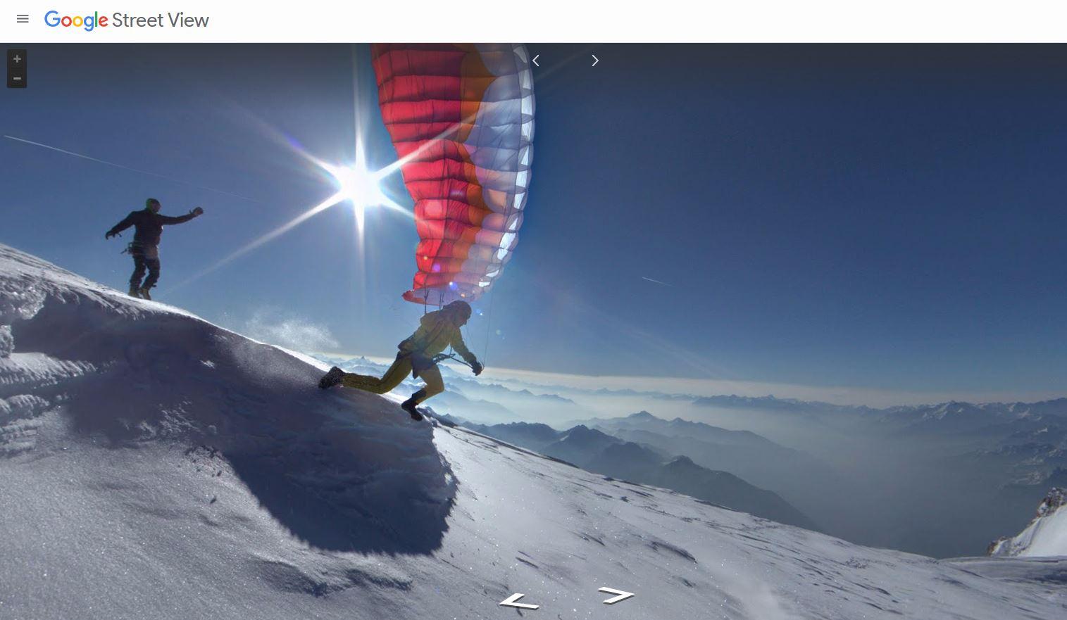 Google Street View Mont Blanc