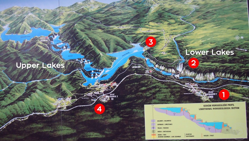 Plitvice Lakes Park Map