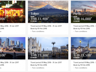 Singapore Airlines Promotion 2016