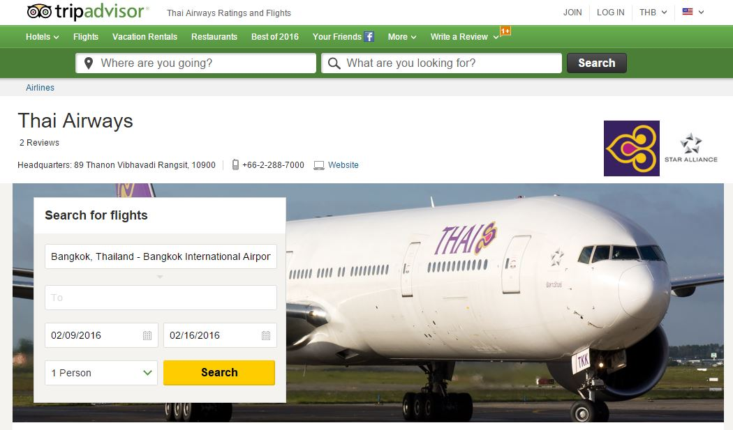 Thai Airways Tripadvisor