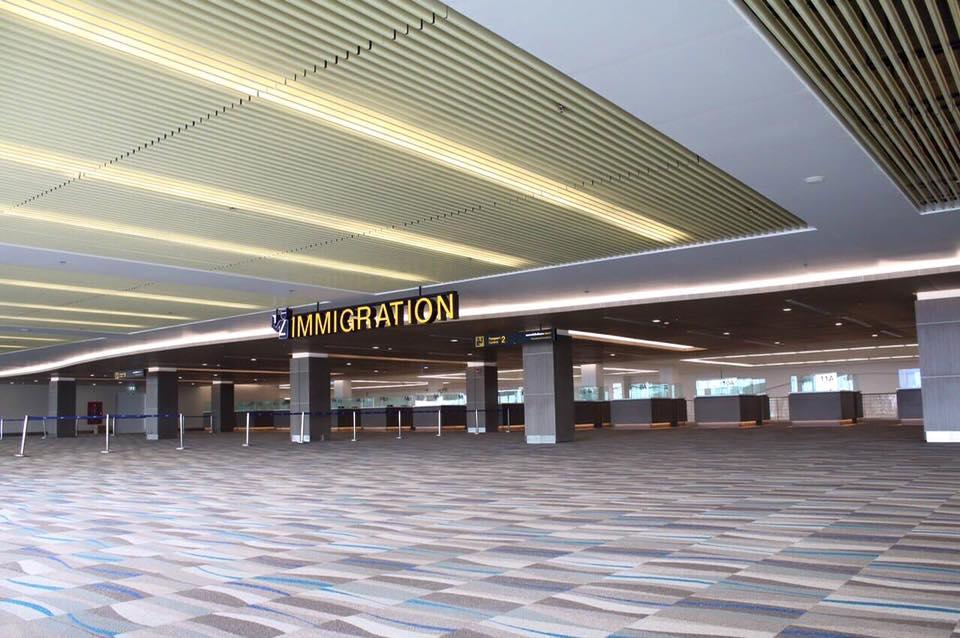 ภายในอาคารผู้โดยสารระหว่างประเทศหลังใหม่ สนามบินภูเก็ต