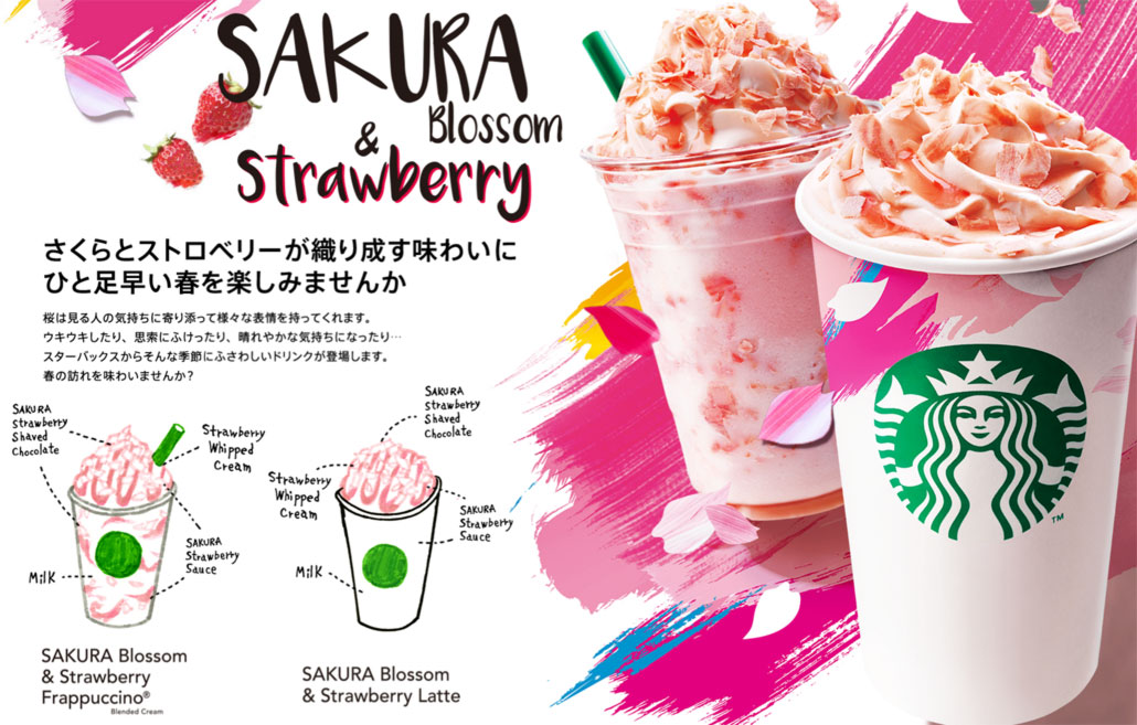 Japan Starbucks Sakura Collection 2016-Sakura Blossom Strawberry