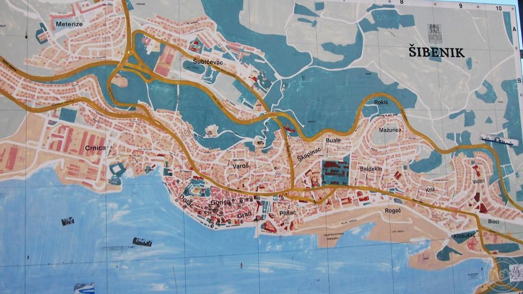 Map of Sibenik