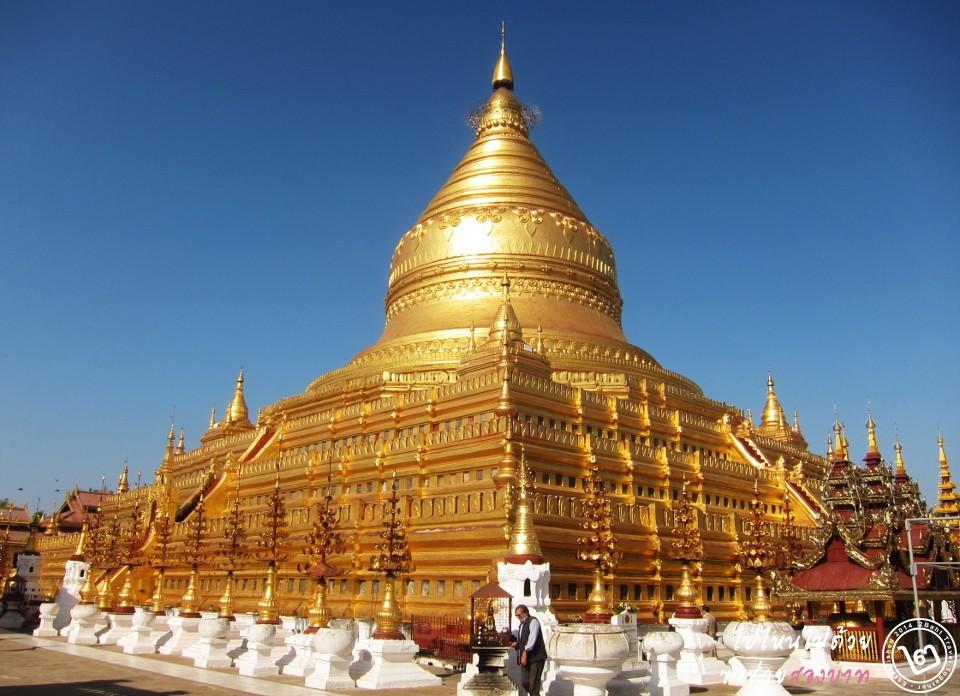 ที่เที่ยว พม่า: เจดีย์ชเวสิกอง เมืองพุกาม (ภาพโดย 2Baht)