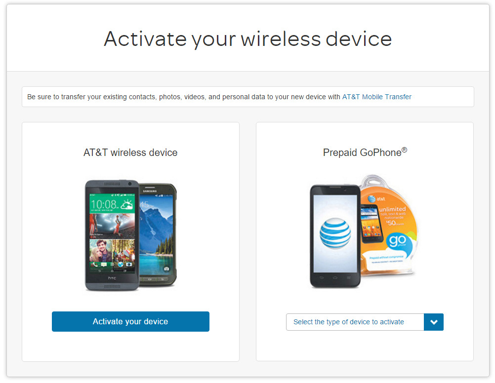 AT&T GoPhone Activation