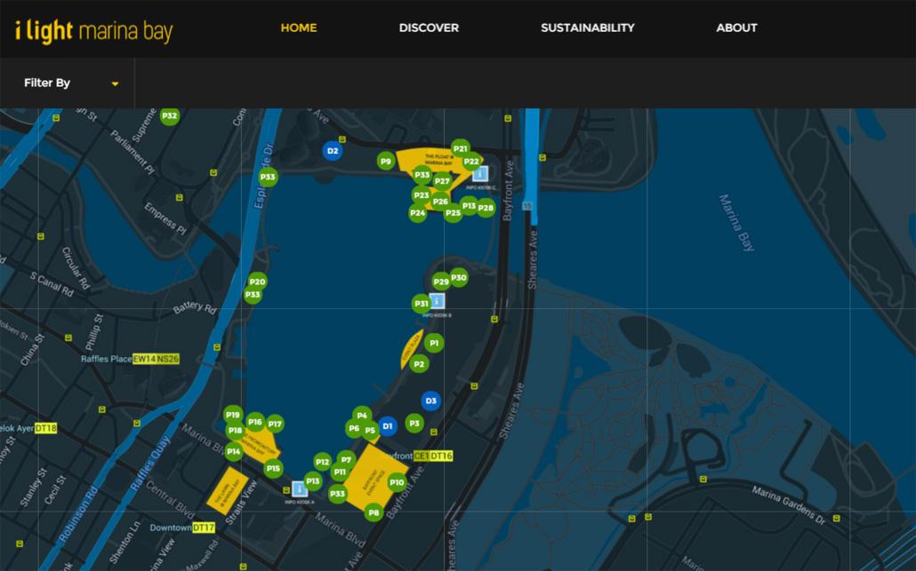 แผนผังและกิจกรรมเทศกาล i Light Marina Bay 2016