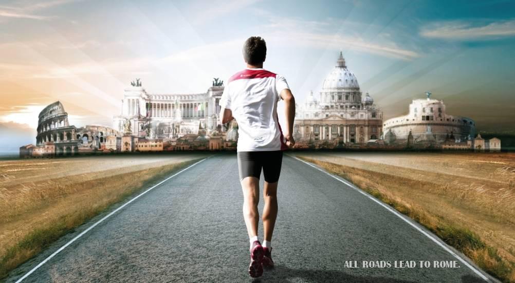 งานวิ่งมาราธอน ต่างประเทศ: ภาพจาก Maratona di Roma