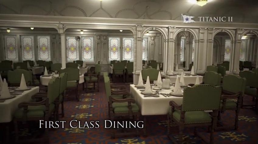 ห้องรับประทานอาหารของผู้โดยสารชั้นหนึ่งบนเรือ Titanic 2