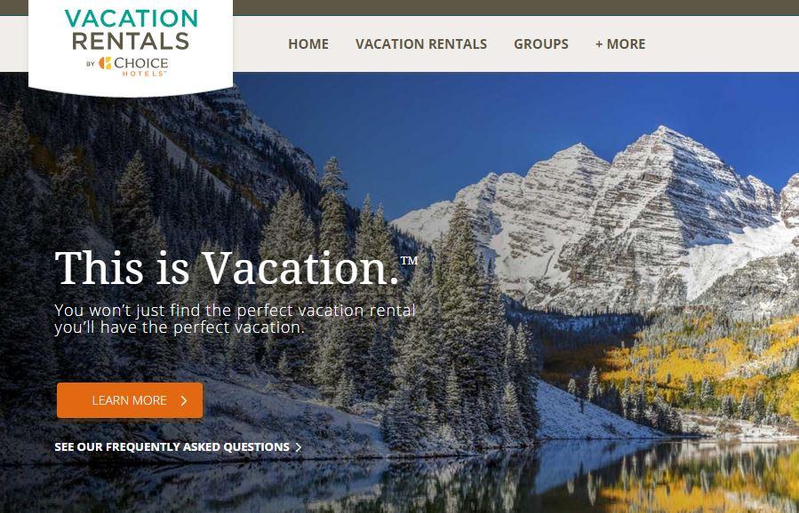 เว็บไซต์ Vacation Rentals by Choice