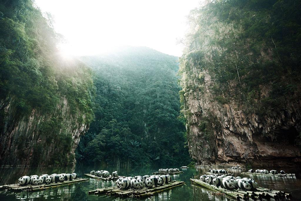 1600 Pandas ล่องแพที่กุ้ยหลินน้อย เมืองอิโปห์ ประเทศมาเลเซีย