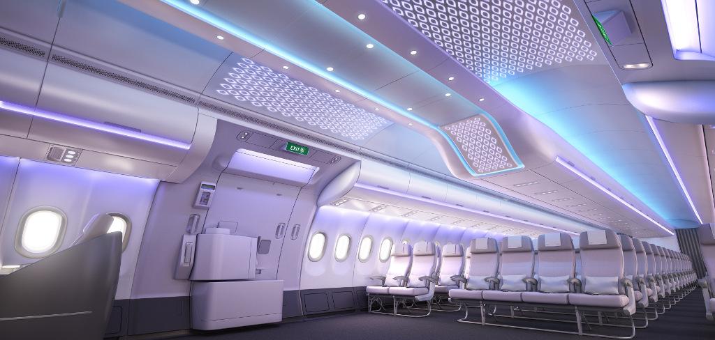 บรรยากาศและระบบแสงไฟของ Airspace by Airbus