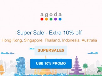 Agoda SUPERSALE5 10 percent promo