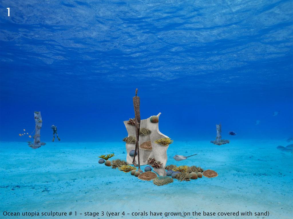 ประติมากรรมใต้ทะเลที่หาดเต่าทอง เกาะเต่า Ocean Utopia - ชิ้นที่ 1