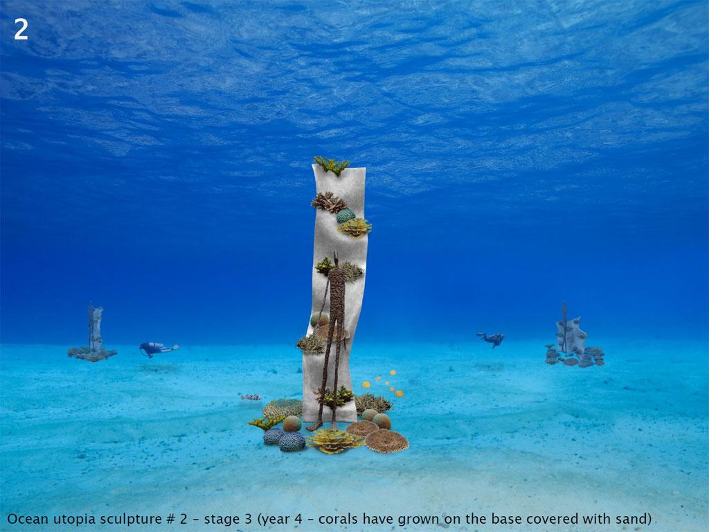 ประติมากรรมใต้ทะเลที่หาดเต่าทอง เกาะเต่า Ocean Utopia - ชิ้นที่ 2
