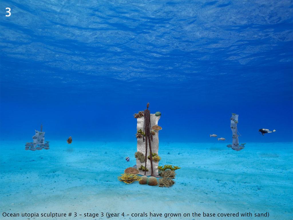 ประติมากรรมใต้ทะเลที่หาดเต่าทอง เกาะเต่า Ocean Utopia - ชิ้นที่ 3