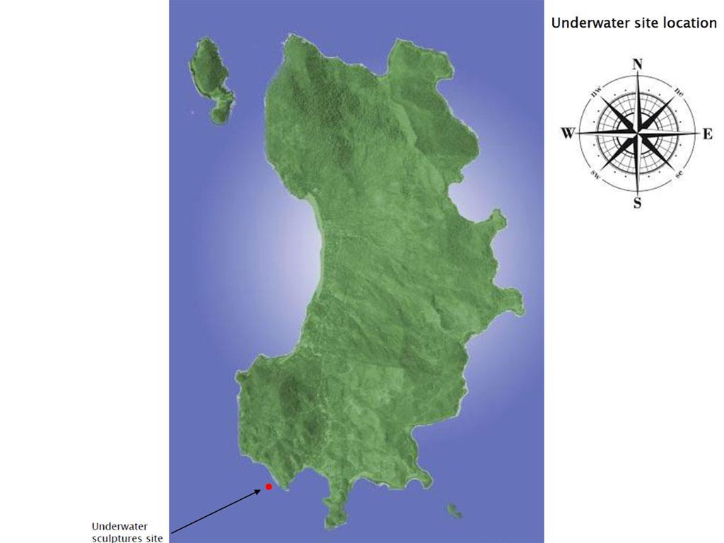แผนที่ประติมากรรมใต้ทะเลที่เกาะเต่า จ.สุราษฎร์ธานี Ocean Utopia