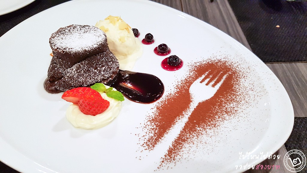 Molten Chocolate Cake by Prego Trattoria