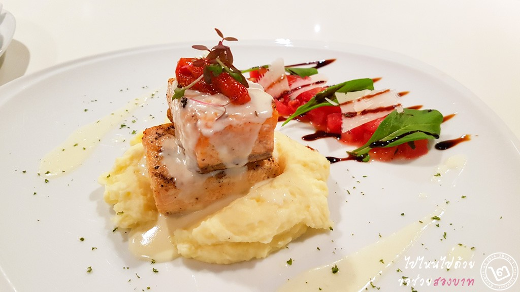 Pan Seared Norwegian Salmon by Prego Trattoria