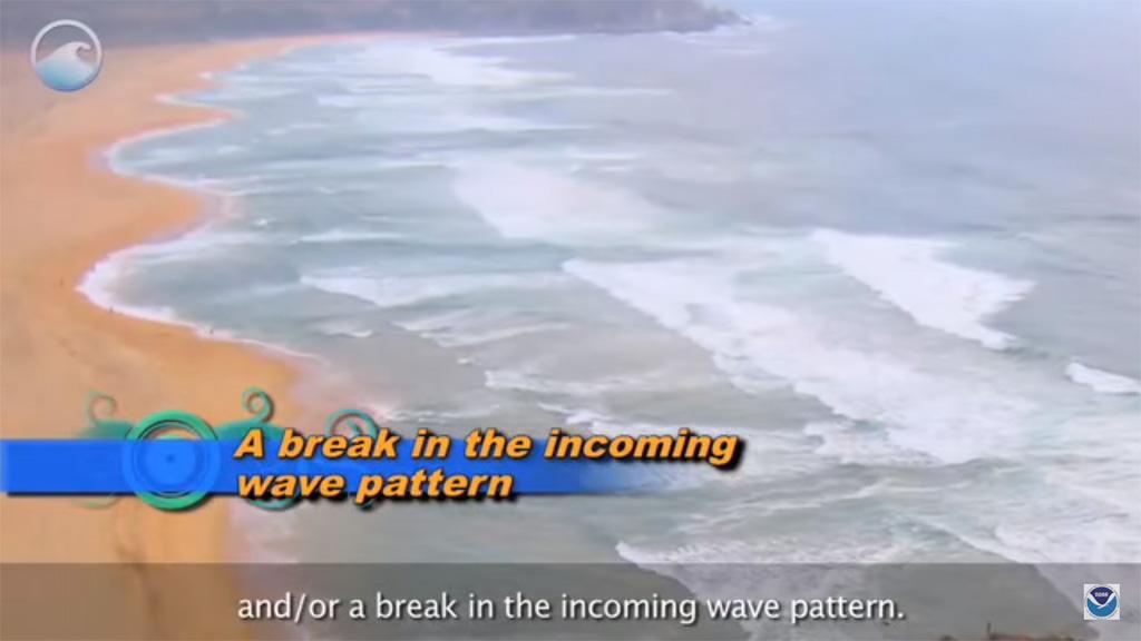 การสังเกต Rip Current (คลื่นทะเลดูด ร่องน้ำวน คลื่นรูปเห็ด)