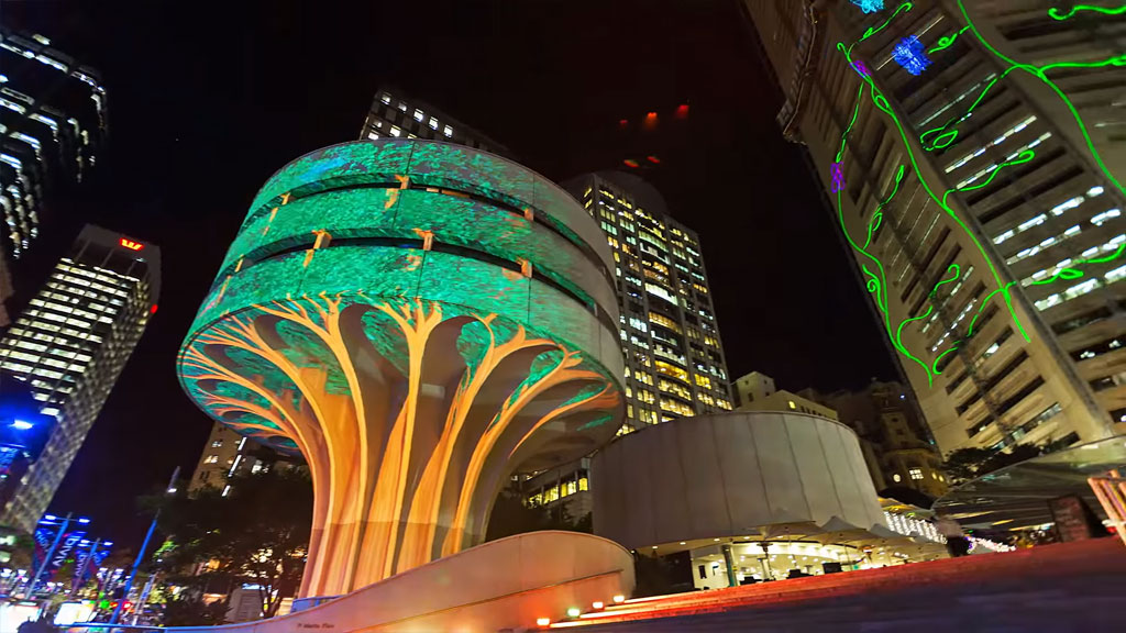 Vivid Sydney-3D-mapped projection