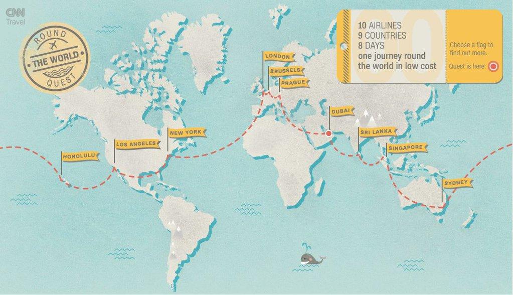 แผนการเดินทางของ Richard Quest
