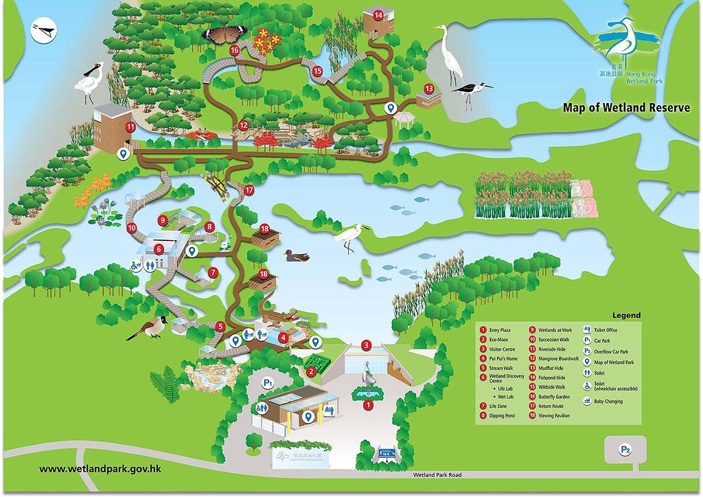 Hong Kong Wetland Park Map