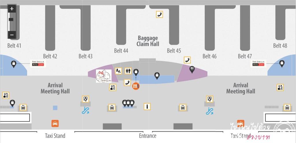 แผนที่ Hello Kitty Cafe สนามบินชางงี สิงคโปร์