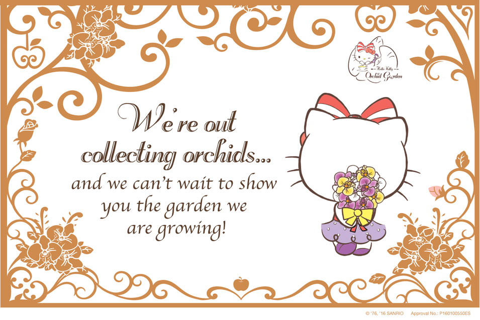 Hello Kitty Orchid Garden Coming Soon