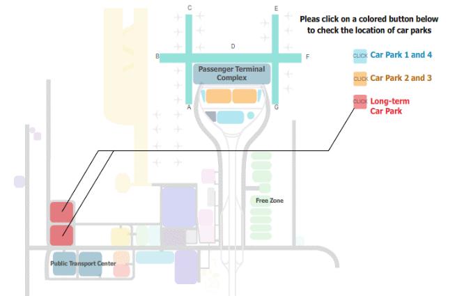 แผนที่ลานจอดรถระยะยาว สนามบินสุวรรณภูมิ