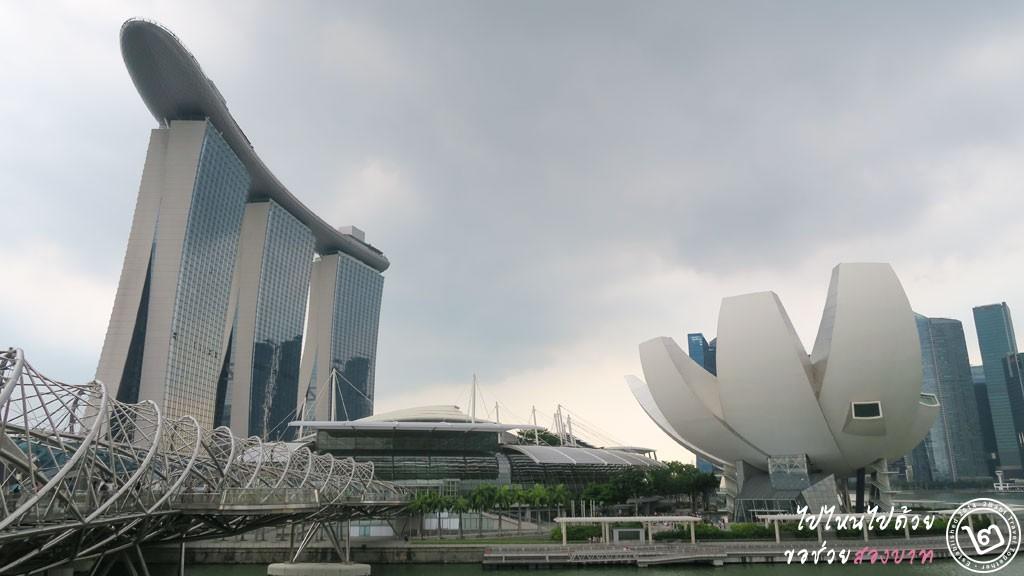 ArtScience Museum หน้า Marina Bay Sands