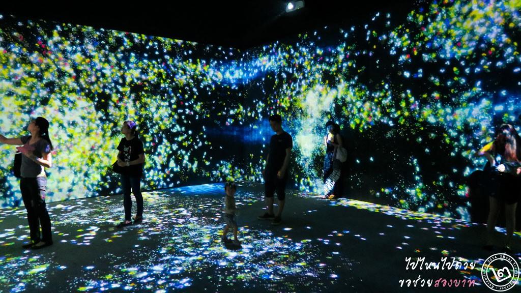 Flowers and People - นิทรรศการ Future World ArtScience Museum สิงคโปร์