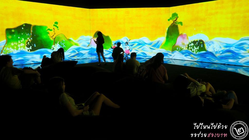 100 Years Sea Animation Diorama - นิทรรศการ Future World ArtScience Museum สิงคโปร์