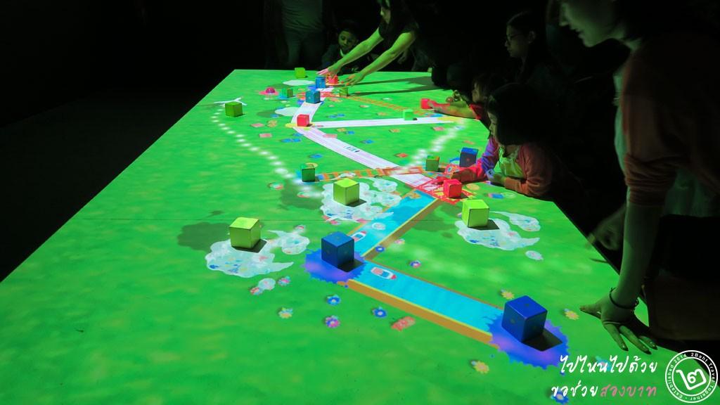 Connecting Train Block - นิทรรศการ Future World ArtScience Museum สิงคโปร์