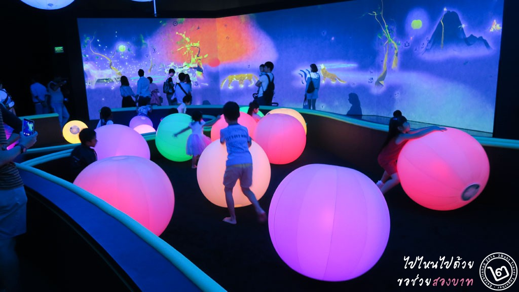 Light Ball Orchestra - นิทรรศการ Future World ArtScience Museum สิงคโปร์