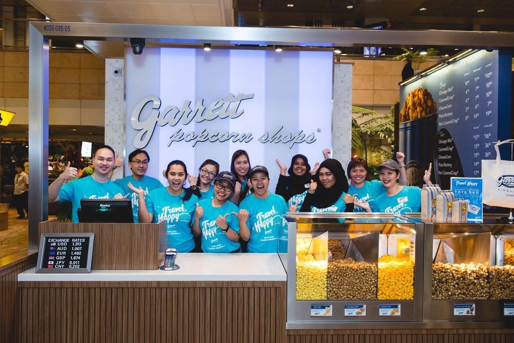 Garrett Popcorn สาขาสนามบิน Changi สิงคโปร์