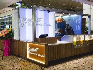Garrett's Popcorn สาขาสนามบิน Changi สิงคโปร์