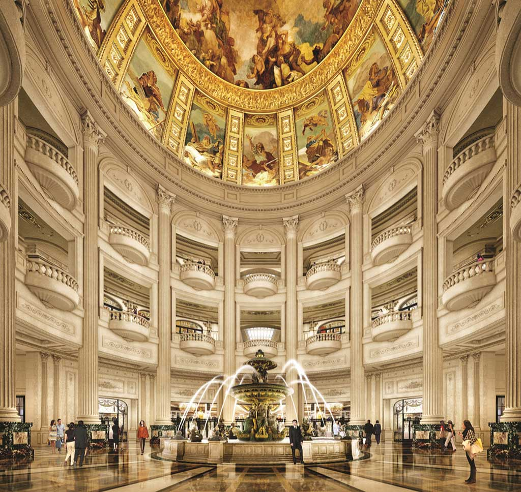 The Parisian Macao - Rotunda in hotel lobby