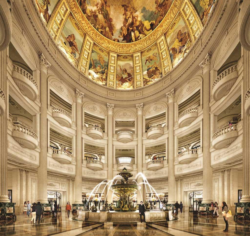The Parisian Macao - Rotunda in hotel lobby