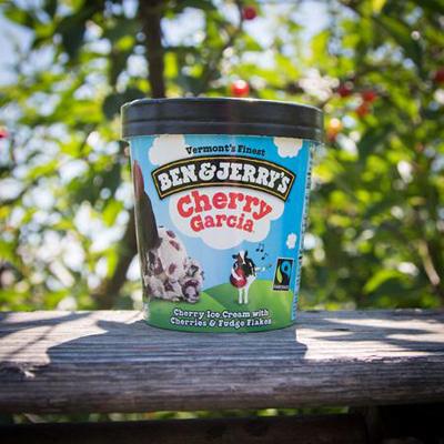ไอศครีม Ben & Jerry's รส Cherry Garcia